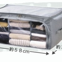 Storage Box 2 Pintu / Foldable Cloth Organizer Bamboo Charcoal Storage - ABU-DUAPINTU