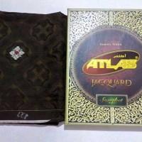 Sarung Atlas Jacquard Songket warna coklat