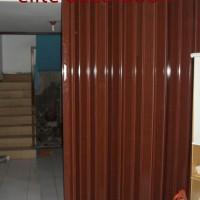 Pembatas ruangan Pvc folding door, hoze sharp point