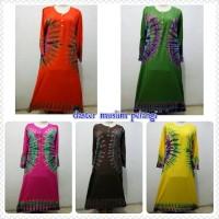 daster muslim pelangi baju tidur santai batik longdress