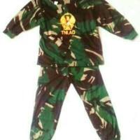 kaos stelan anak loreng tni ad . baju army anak