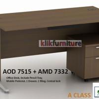 Modera AOD 7515 + AMD 7332 Meja Kantor Meja Kerja Meja Tulis