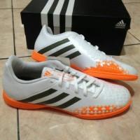 sepatu futsal anak adidas predito lz putih orange original