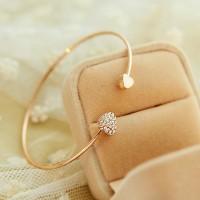 gelang hati emas / gold-plated double peach heart bracelet JGE009