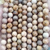 Batu Natural Brown Jasper 6mm / Bahan Gelang Kalung Aksesoris Handmade