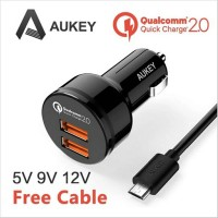 AUKEY 36W 2 Port USB Car Charger with Qualcomm Quick Charge