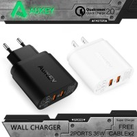 AUKEY PA-T7 2 Port Quick Charge 2.0 Travel Charger - EU Plug