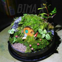 miniature rumah hobbit for terrarium mini garden