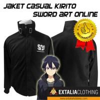 JAKET KIRITO SWORD ART ONLINE ANIME SEMI COSPLAY CASUAL