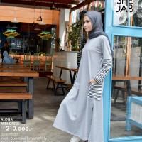 Gamis Santai Lembut Nyaman Baju Muslim Wanita Shejab Alona Midi Dress