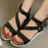 Sandal Flat Sol Docmart Flat Shoes Silang Tali