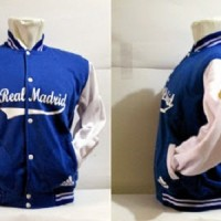 JAKET BASEBALL REAL MADRID BIRU PUTIH