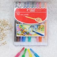 Crayon TITI Oil Pastel 12 Warna Putar (Panjang)