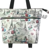 Foldable Shopping bag,Belanja,Roda,Trolley,Tas,Troli Lipat PariS PeaRL