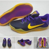Sepatu Basket Nike Kobe XI Mesh Lakers Replika