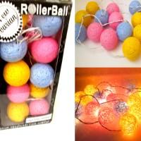 Cotton Ball Light (Lampu Hias Indoor warna bisa request )