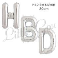 HBD Large Letter Balloon Foil Set / Balon Foil Huruf Besar 80cm