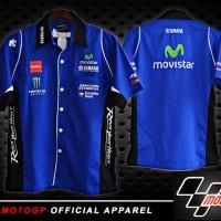 Kemeja MotoGP Yamaha Movistar Biru (baju)