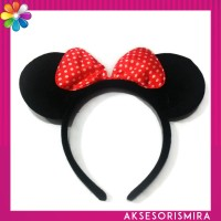 Bando Minnie Mouse Pita Polkadot All Size Anak & Dewasa