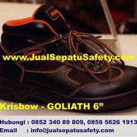 Krisbow Goliath 6 (6 inch)-Sepatu Semi Boot Safety Bertali