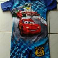 Baju renang anak diving car biru (SD)