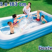 Kolam Renang Anak Bestway Rectangular Family Pool (54009) 305 cm
