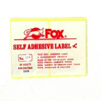 Fox Label Stiker 119 / Undangan / Nama / Self Adhesive