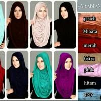 Jilbab Instant Arabian Hoodie Versi Premium, Murah