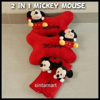 Bantal Mobil 2 in 1 Mickey Mouse