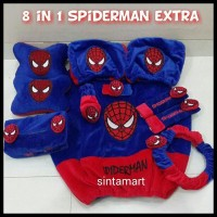 Bantal Mobil 8 in 1 Spiderman Extra
