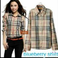 kemeja/ hem / burberry shirt / blueberry shirt