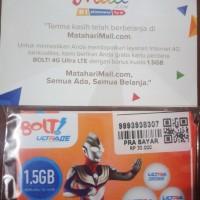 Kartu Perdana Bolt 4G Ultra LTE 1,5 GB Berlaku 30 Hari
