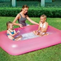 kolam mandi bermain anak pink pelampung renang kids bahagia laris
