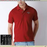 kaos polo CONVERS (MERAH)/kaos kerah/polo shirt/baju