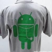polo shirt/ Tshirt/ Kaos jerah Android abu abu