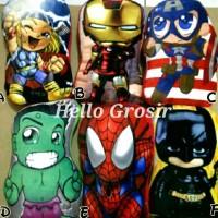 bantal superhero thor iron man captain america hulk spiderman batman