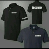 Polo shirt/kaos kerah/kaos SECURITY, Distro terbaru