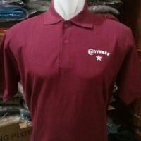 kaos polo CONVERS(merah)/polo shirt/kaos kerah/bajumurah