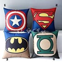 Sarung Bantal Sofa Canvas Super Hero 41 x 41 cm