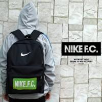 Tas Ransel Nike FC Hitam Logo Hijau (tas sekolah,tas sepatu,tas futsa