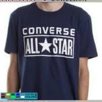 kaos convers all star(biru/navy)/t-shirt convers all star/baju/kaos