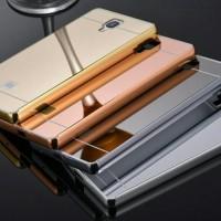 xiaomi redmi note 2 bumper + back mirror hard case cover casing