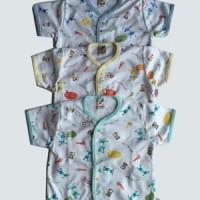 Libby - Baju Anak Bayi Kancing Depan Pendek Print Motif SML