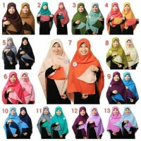 Jilbab Bolak Balik Segi Empat Aufa Collection - Modifikasi
