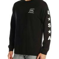 Kaos Lengan Panjang/Baju Long Sleeve GLOCK GUN USA
