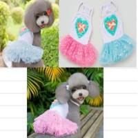 Baju anjing / kucing model rok gambar