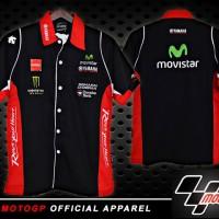 Kemeja MotoGP Yamaha Movistar Hitam Murah Terbaru (T-Shirt Moto GP)