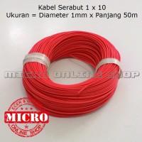 Kabel Serabut 1x10 Diameter 1 mm Panjang 50 meter