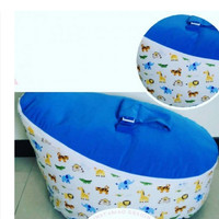 Snorlux Baby Beanbag  Bantal Santai Bayi  Blue Safari