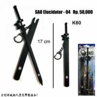 Gantungan kunci pedang kirito elucidator sword art online/spade anime